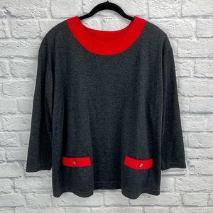 Combinations Vintage 3/4 Sleeves Sweater Top